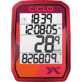 Ciclosport Protos 105 Cykelcomputer, red